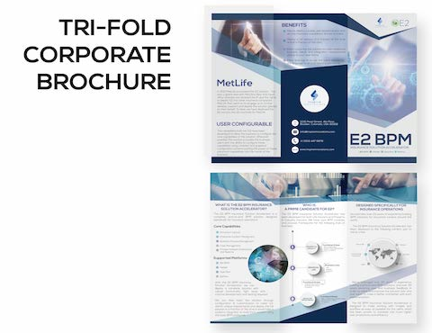 Trifold Broschüre